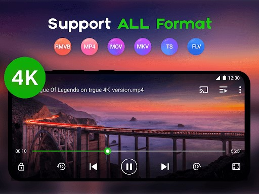 xplayer supports all video formats